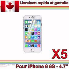5x - Film Protecteur d'Écran Transparent pour iPhone 6 6S (4.7'')
