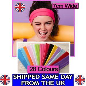 7cm Headband Plain Stretchy Quality Fabric Kylie Head Bands Hair Bandeau unisex