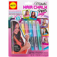 Metallic Hair Chalk Pens Washable Assorted Children's Arts & Crafts by Alex 238M