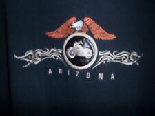 Harley-Davidson Embroidery Eagle Circle Leather Patch with Bike Arizona T Shirt