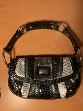 Womens Small Black And Silver River Island Hand Bag