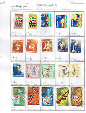 OLYMPICS** / SPORTS  residuals club page of 19 USED cat $13.00  Lot 303