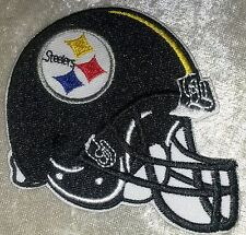 "Pittsburgh Steelers Helmet 3.5"" Iron On Embroidered Patch ~FREE Ship"