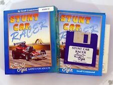 "ATARI ST STUNT CAR RACER BIG BOX 3.5"" VINTAGE COMPUTER GAME GEOFF CRAMMOND"
