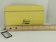 Women's GUESS Brand Yellow EMUESHE Double Pouch XL Wallet - $68 MSRP - 10%