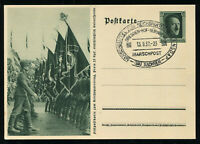 1937 Germany 3rd Reich Real Picture Postcard Cover Hitler Rally Nuremberg RPPC
