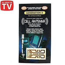 As Seen on TV Internal Cell Phone Antenna Signal Reception Booster 10 for $3.99!