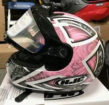 HJC Pink Snowmobile Helmet Size XS (Arctic Cat, Polaris, Ski Doo, Yamaha)