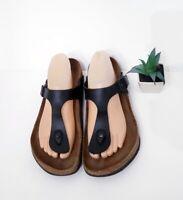 Birkenstock Gizeh Black Women's Sandal Birko Flor EU 40 US SIZE 9 REGULAR