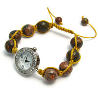 ECHO' Beautiful Semi-precious Shamballa Style Watch and Bracelet Set no.1