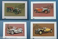 ROLLS ROYCE Set of four Art Prints - 20hp, Silver Ghost, Alpine Eagle & Phantom