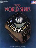 1978 World Series program Los Angeles Dodgers vs. New York Yankees, unscored~ VG