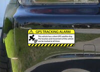 x2 Warning GPS Tracking Alarm Decal Anti-Theft Decal Sticker for Car (GPSyellow)