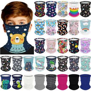 Kids Boys Girls Children Neck Tube Face Mask Cover Balaclava Bandana Snood Scarf