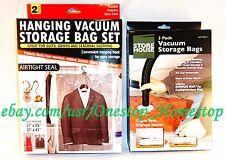 QTY. 5 VACUUM STORAGE BAGS + [ BONUS BAG ], 2 HANGING, 3 STANDARD SPACE SAVING