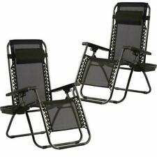 Bestmassage Zero Gravity Chairs Set Of 2 With Pillow And Cup Holder Patio Outdoo