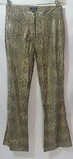 Y2K Blues Vinyl Snakeskin Print Flared Pants Size (9/10 Runs Small) PVC Clubwear