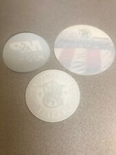 3 LOT ORIGINAL SMITH & WESSON DECAL STICKERS M&P GUN FIREARM PROTECT