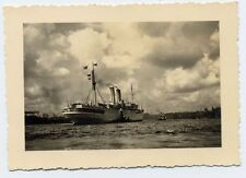 Foto Porto Amburgo 1938 con nave vaporetti Oceana KDF DAF ex SIERRA Salvada
