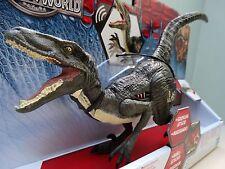 Jurassic World Bleu Velociraptor Dinosaure Figurine Parc Entièrement neuf dans sa boîte Bourguignon Sons