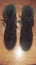 Used womans green, brown & black Sporto Duck 8M leather ankle high hiking boot