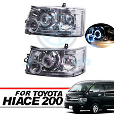 Clear Projector Crystal Angel Eye LED Headlight For Toyota Hiace 200 Van 05-10