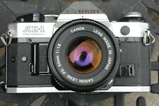 Canon AE-1 Program 35mm SLR Film Camera with Canon FD 50mm F1.8 Lens