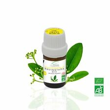 Huile Essentielle BIO Ravinstara 5ml. ABLabel, Ecocert Bio 100 % Pure.