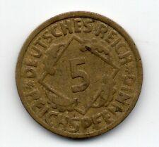 Germany - Duitsland - 5 Pfennig 1925 G