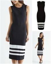 Oasis Round Neck Striped Sleeveless Dresses for Women