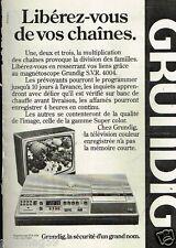 Publicité advertising 1979 Téléviseur magnetoscope Grundig