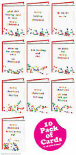 Brainbox Candy Rude Christmas Xmas card multi pack of 10 funny cheeky humour