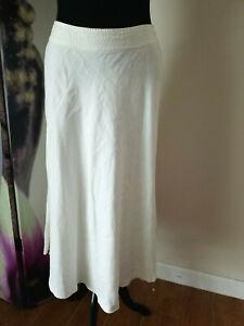 Lauren Ralph Lauren PETITE Long A Line Lace Up Linen Skirt Women's Size 12P