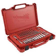 1/4 in. Drive SAE/Metric Ratchet and Socket Mechanics Tool Set (50-Piece)