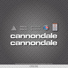 0508 White Cannondale R600 Bicycle Stickers - Decals - Transfers