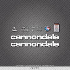 0508 Bianco Cannondale R600 Bicicletta Adesivi-Decalcomanie-Transfers
