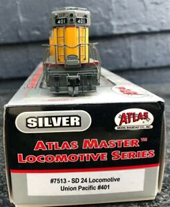Atlas 7513 HO Union Pacific SD 24 Diesel Locomotive #401 [Silver Series] MK