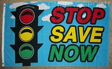 3x5 Stop Save Now Flag Outdoor Indoor Banner Business Advertising Sale Sign