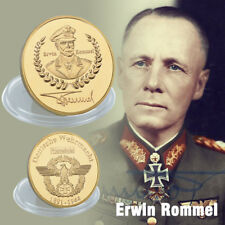 WR World War II Famous General Erwin Rommel Gold Challenge Coin Keepsake Gift