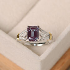 Silver Wedding Proposal Ring Size 7 Hot Fashion Women Men Amethyst White Topaz