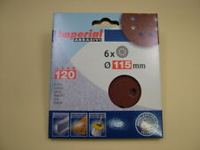 Sanding discs hook&loop random orbit sander 115mm pack 6, 120 grit,European made
