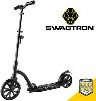 Swagtron K9 Foldable Commuter Kick Scooter Adult Lightweight Height-Adjustable