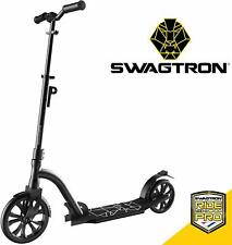 Swagtron K9 Commuter Kick Scooter Adult Foldable Lightweight Height-Adjustable