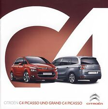 Citroen C4 Picasso & Grand Picasso 10 /  2014 catalogue brochure Suisse