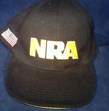 NRA American Flag Patch Embroidered Hat Cap Black And Gold