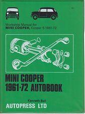 MINI COOPER 997 998 COOPER S 1000 1071 1275 ( 1961-1972 ) WORKSHOP MANUAL *VGC*