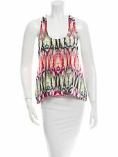 Alexis Sleeveless Silk Multi-color Scoop Neck Top XS