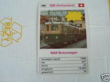 24 EK LOKS H4 SBB SWITSERLAND WAB MOTORWAGEN TRAIN TREIN KWARTET KAART,