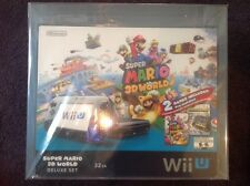 Wii U Super Mario 3D World Nintendo Land Deluxe Set 32GB VGA U90+ Uncirculated