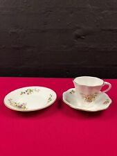Coalport Wenlock Fruit Bone China Fluted Coffee Trio Cup Saucer and Side Plate